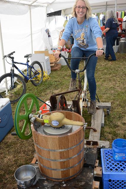 Pedal-powered Ice Cream Machine