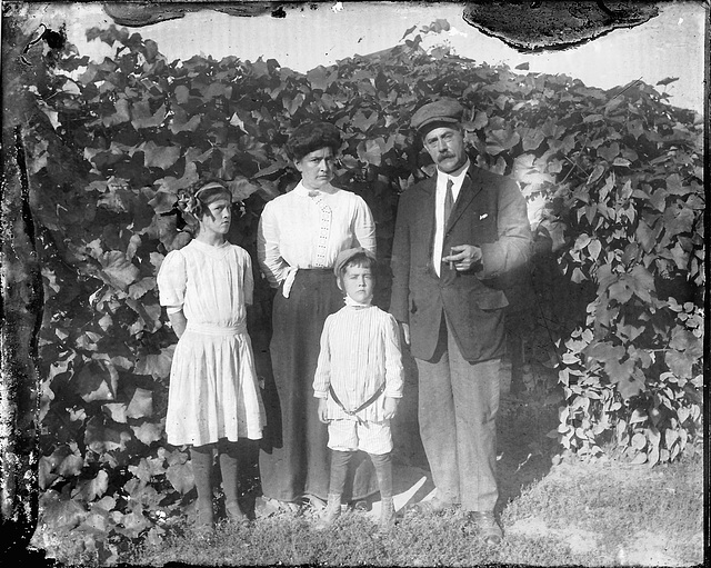 Glass Plate Adams Family