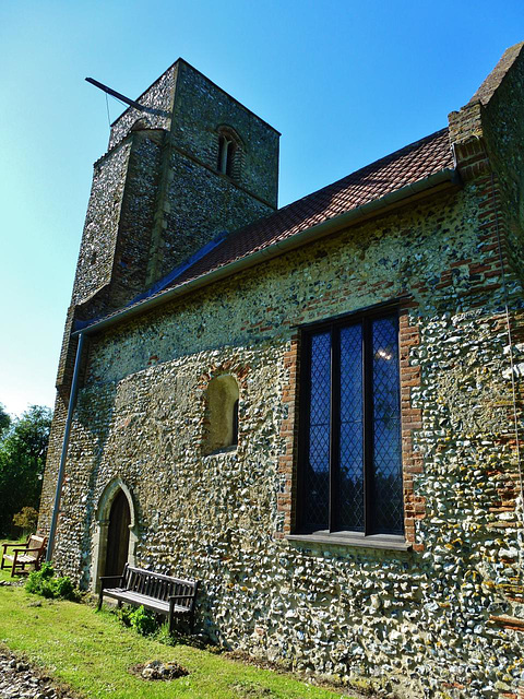 houghton on the hill church, norfolk