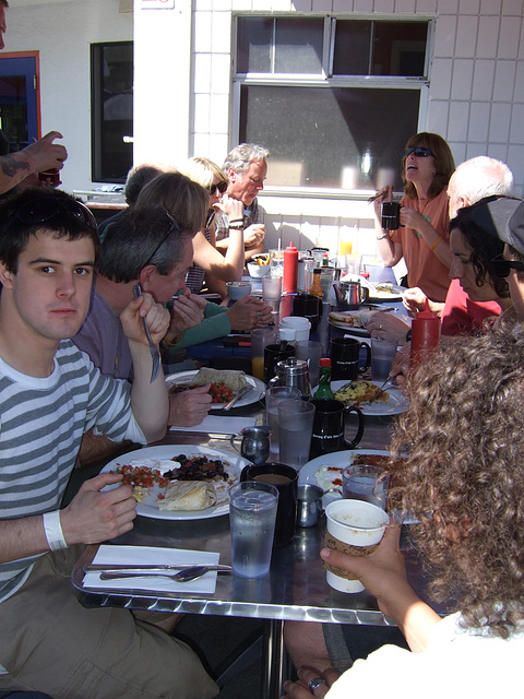 """Outside At """"Rudi's Can't Fail Cafe"""""""