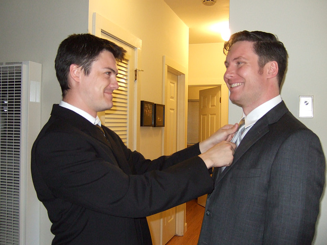 The Best Man Adjusts the Tie #1