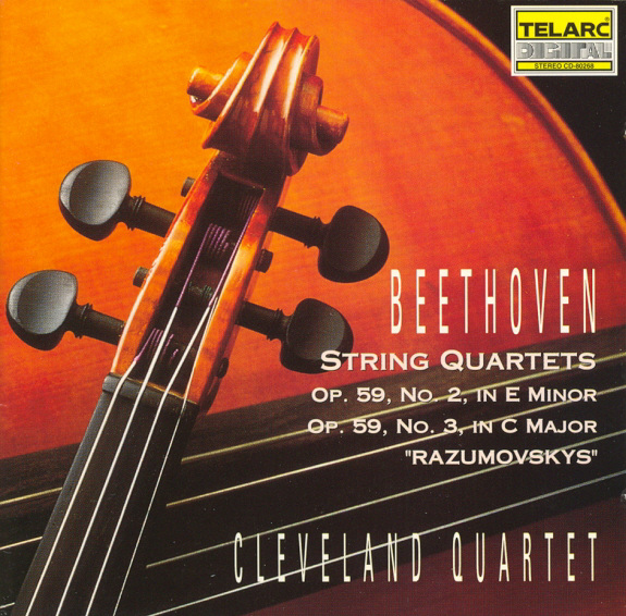 Opus 59 No. 2 & 3, Beethoven String Quartets