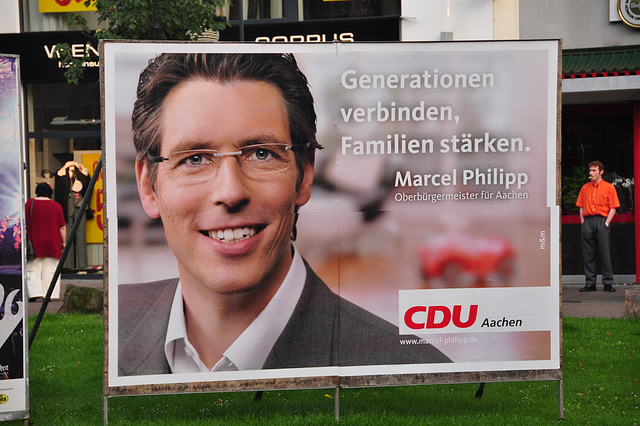 Election poster for the CDU (Christian Democratic Party) party