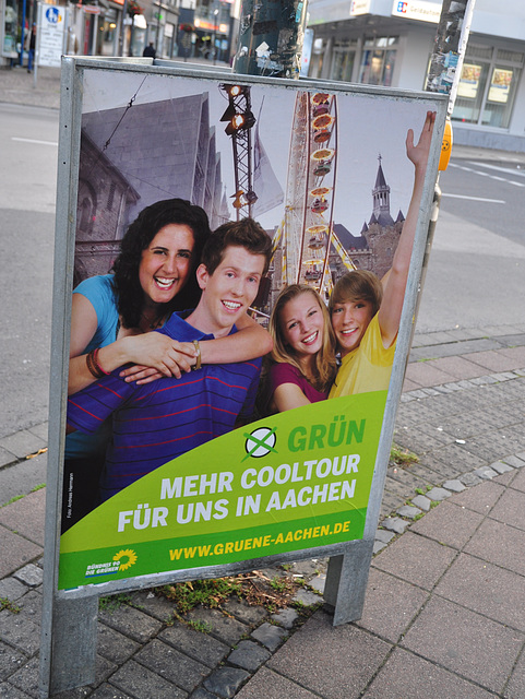 Election poster for the Grün (Green) party