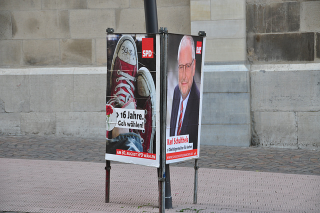 Election posters for the SPD (Socialist Party Germany) party