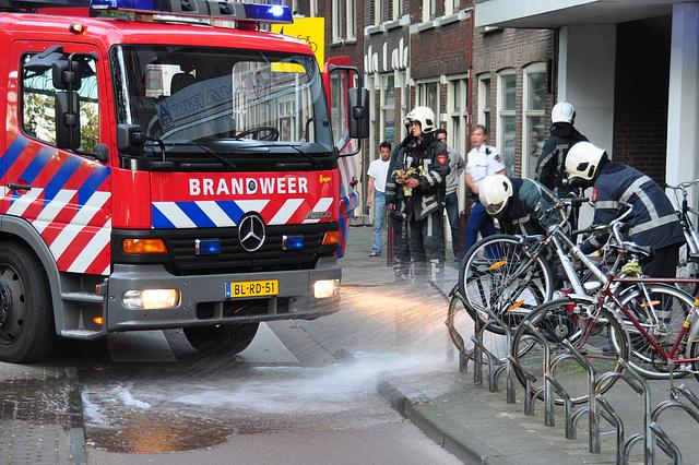 Leiden Fire Department in action