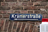 Sign of the Krämerstraße in Aachen, Germany