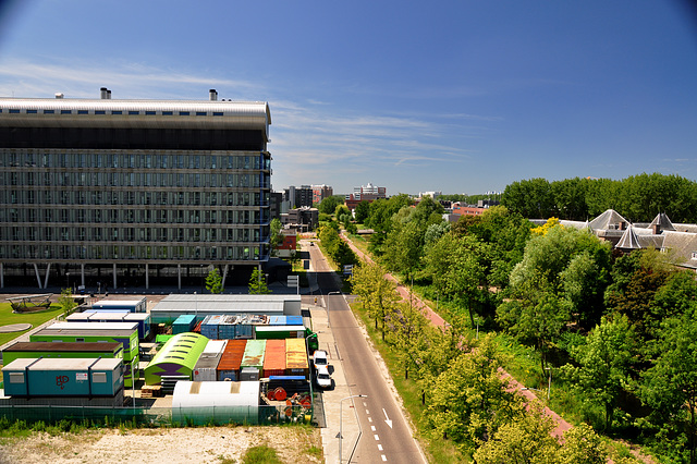 View of the Research Building of Leiden University Medical Centre