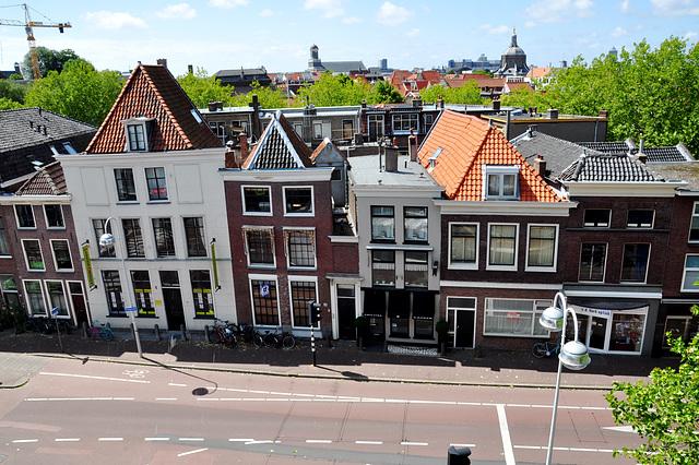 View of the Hooigracht in Leiden