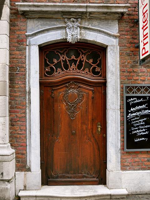 Old door in Aachen, Germany