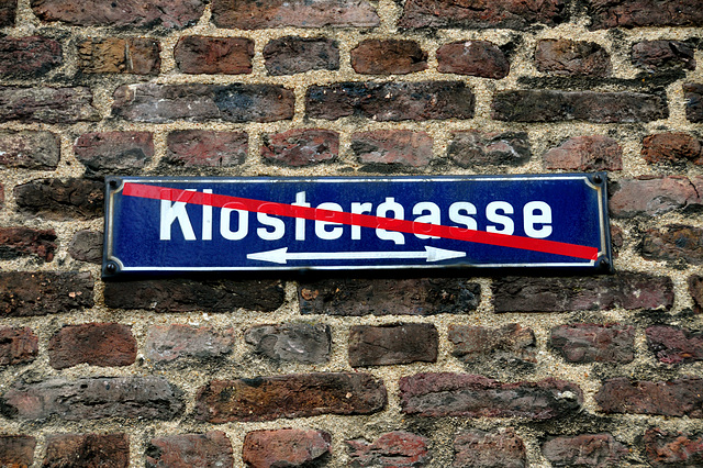 Klostergasse no more