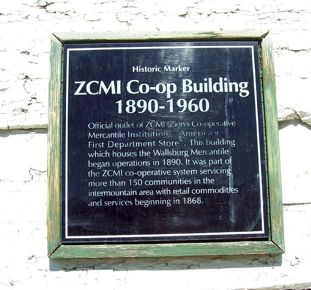 ZCMI Co-op building, Wallsburg, Utah