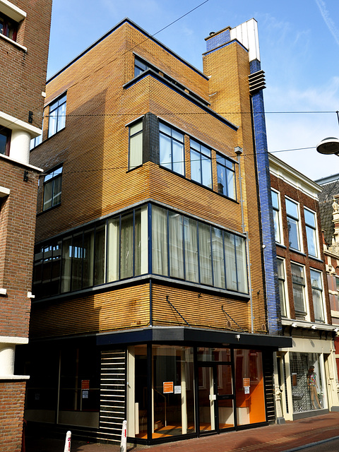 Modernist house on the Breestraat (Broad Street) in Leiden