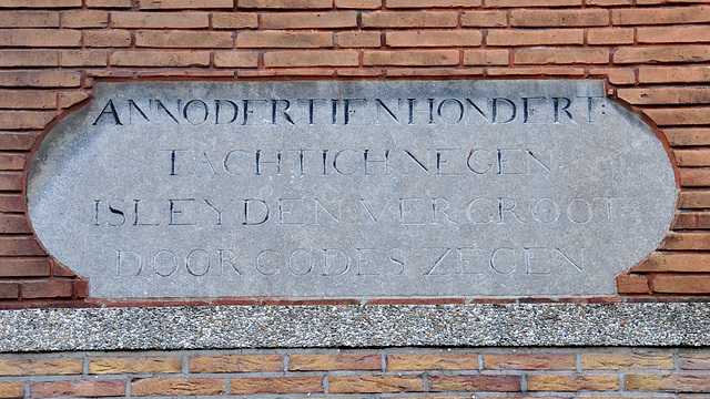 Inscription about the expansion of Leiden in 1389