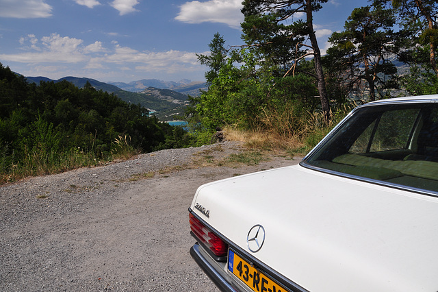 Holiday 2009 – View of the Serre-Ponçon lake with my Mercedes