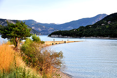 Holiday 2009 – Submerged railway bridge in the Serre-Ponçon lake