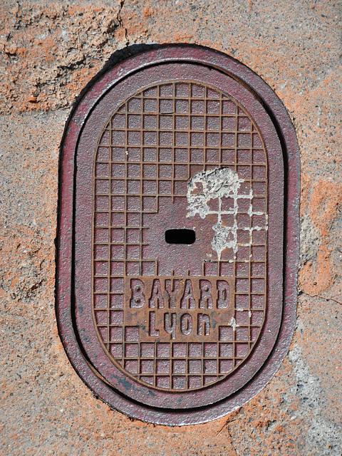 Drain cover of Bayard of Lyon, France
