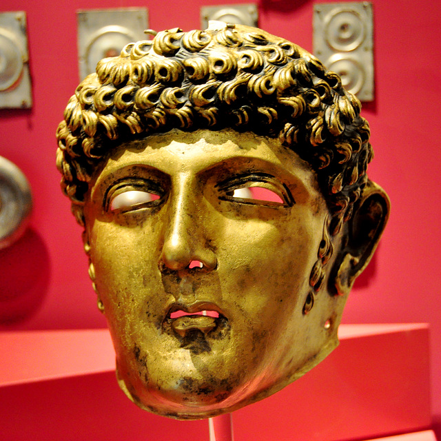 Museum of Antiquities – Roman facemask of a horseman