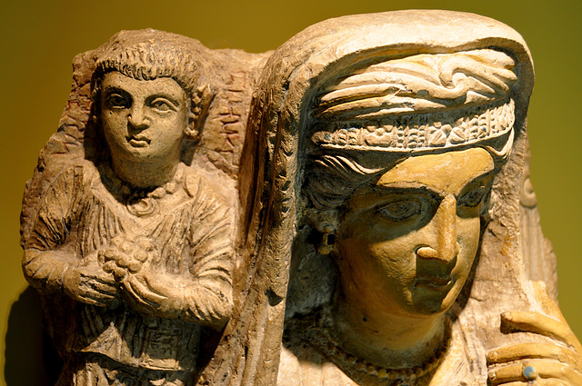 Museum of Antiquities – Tombstone for mother and daughter