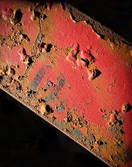 Rusting Beam against Black