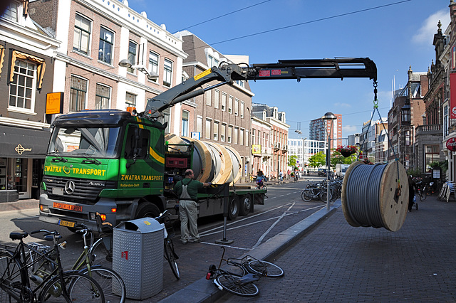 Delivery of a new cable