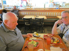 My Husband Frank and I at Frank's First Solid Food in 1 1/2 Days
