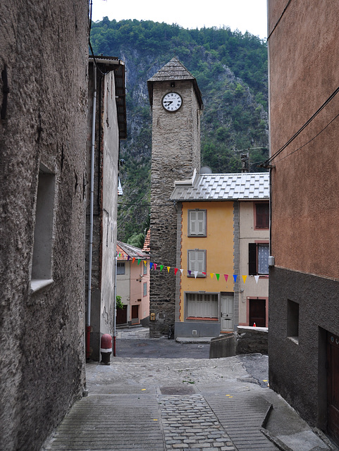 Holiday 2009 – Clock tower in Isola, France