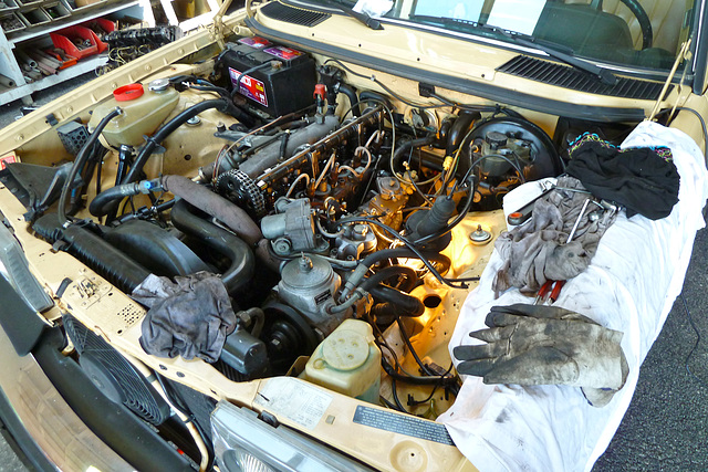 Ipernity mercedes benz om617 turbodiesel engine bay by for Mercedes benz om617