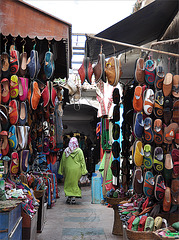 souks de babouches à Essaouira