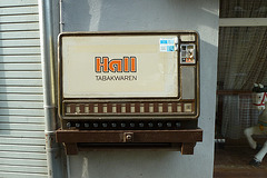 Old cigarette machine in Monschau