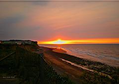 North sea sunset 2008