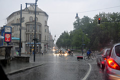 Heavy rain in Halle (Saale)