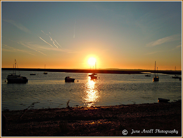Sunrise over Wells next the Sea