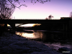 Fochabers Bridge over the Spey, at Dusk