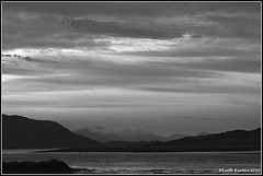 Just after sunset....Black & White