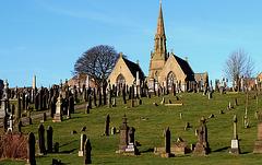 Colne chapel & cemetery.