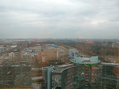 View of Amsterdam from the UWV building