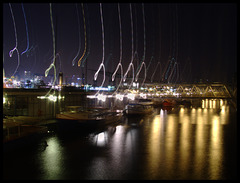 Hamburg, Elbe, during night, something strange happen...