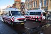 Red Cross vans