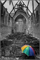 Derelict Convent - Black & White with selective colouring