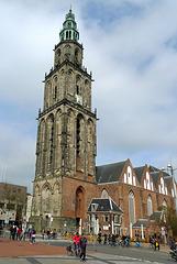 Nederland - Groningen, Martinitoren en kerk