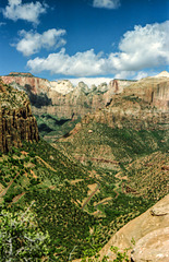 Zion NP, Canyon Overlook, Sept. 1978 (270°)