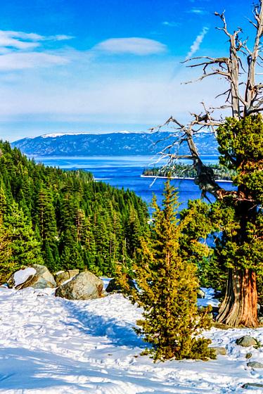 Lake Tahoe, Emerald Bay, Feb. 1990 (045°)