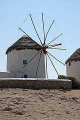 Mykonos Windmills - Vertical shot