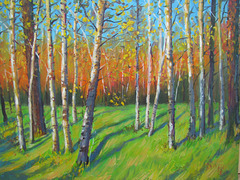 Landscape with Trees=Pejzagxo kun Arbaro=숲속 풍경=林間風景_oil on canvas=olee sur tolo_32x41cm_2012_HO Song