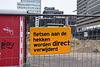 Fietsen aan de hekken worden DIRECT verwijderd