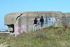 Two boys admiring a bunker