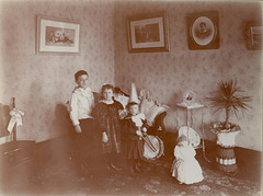 At home on Lee St. in Milwaukee, about 1897