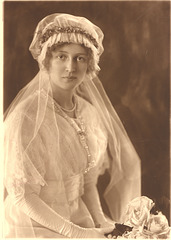 Grandmother, Anna Olsen, on her wedding day, about 1915