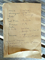France 2012 – French shopping list